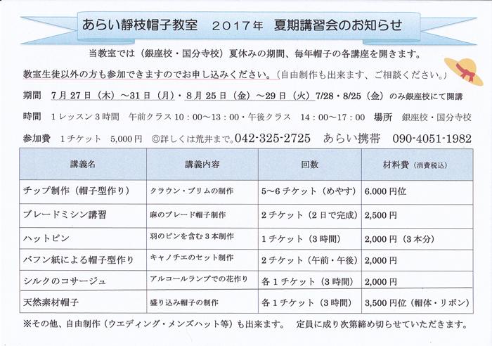 2017夏期講習会